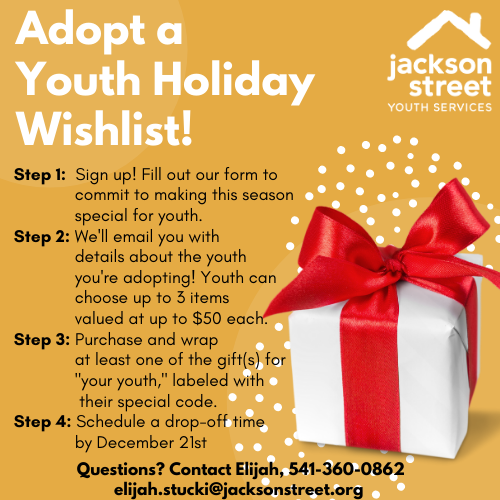 Adopt a Youth Holiday Wishlist Flyer